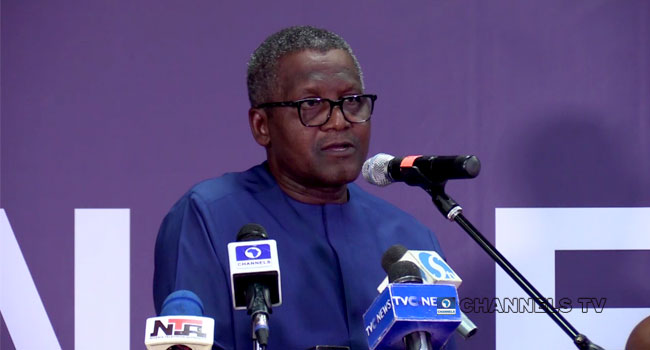 A file photo of Africa's richest man, Aliko Dangote. His refinery is expected to be one of the largest in the world.