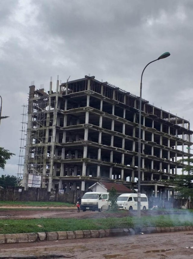 The original structure of the eight-story building that collapsed in Imo state on April 30, 2020.