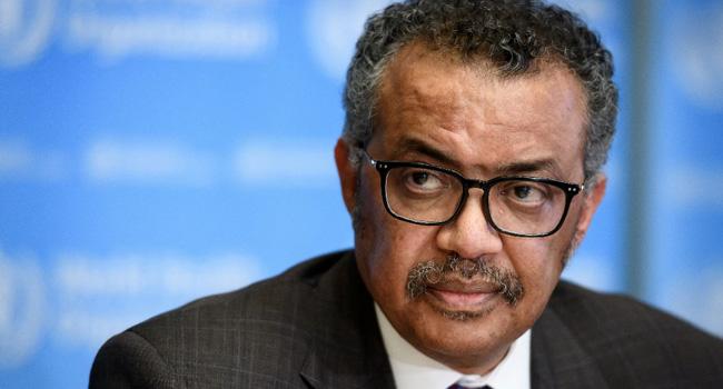 A file photo of World Health Organization (WHO) Director-General Tedros Adhanom Ghebreyesus.