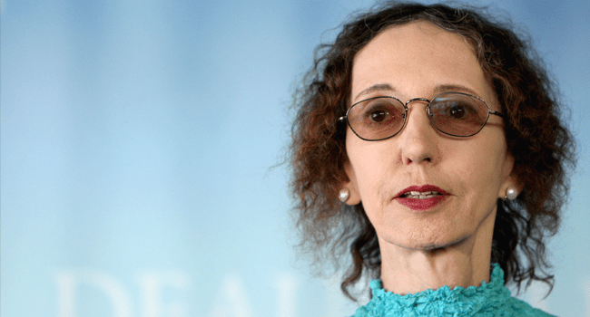 In this file photo taken on September 9, 2010 US writer Joyce Carol Oates poses during a photocall at the 36th American Film Festival, in Deauville, northwestern France. Kenzo TRIBOUILLARD / AFP