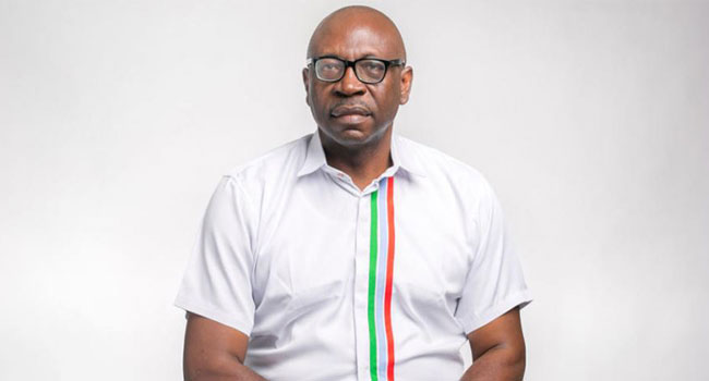 A file photo of the APC Candidate in the Edo 2020 Governorship election