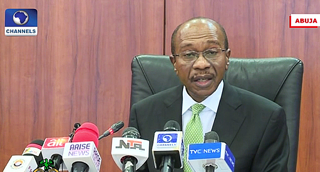 A file photo of Governor of the Central Bank of Nigeria, Godwin Emefiele
