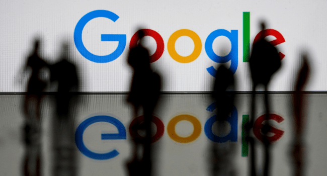 This file photo taken on February 14, 2020 shows the Google logo in Brussels. Kenzo TRIBOUILLARD / AFP