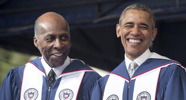 Vernon Jordan and Barack Obama