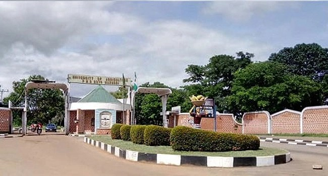 A photo showing an entrance into the Federal University of Agriculture, Makurdi.