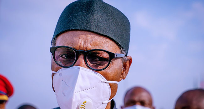 A file photo of President Muhammadu Buhari.