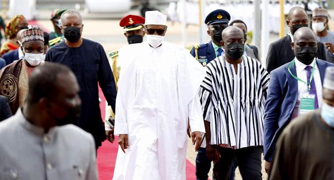 Buhari at Ghana airport 2