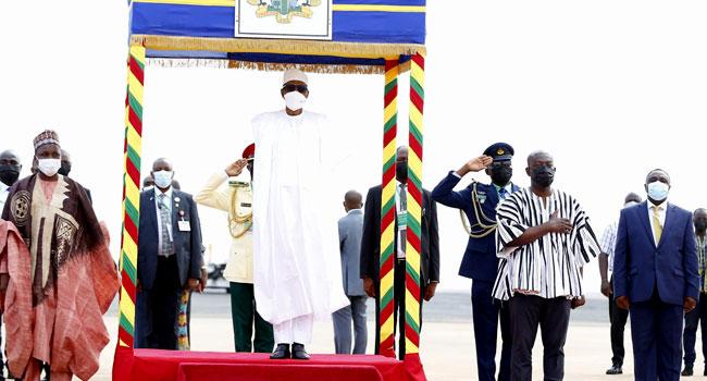 Buhari at Ghana airport 3