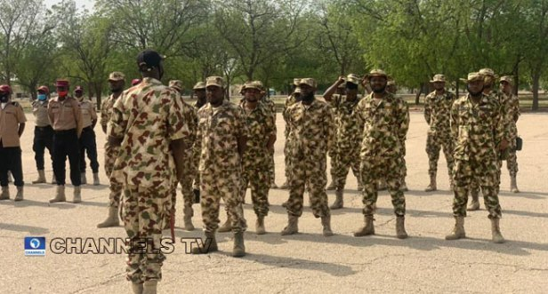 A file photo of Nigerian troops.