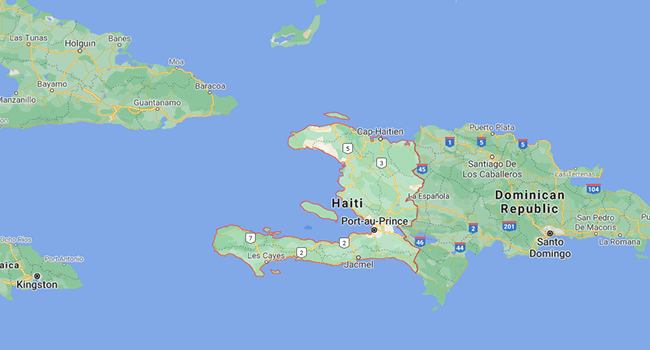 Haiti is a Caribbean country that shares the island of Hispaniola with the Dominican Republic to its east.