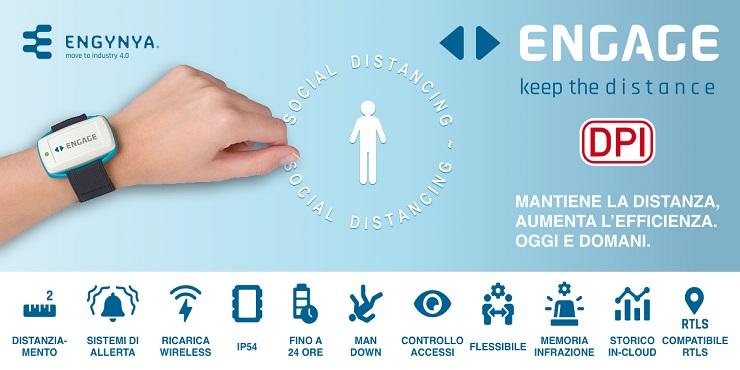 Dispositivo di protezione individuale Engage distribuito da Aikom Technology
