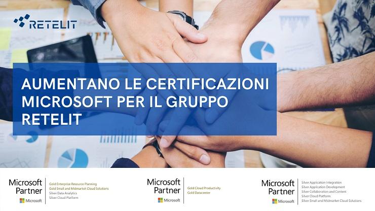 Nuove certificazioni Microsoft per il Gruppo Retelit