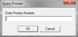 Product number prompt
