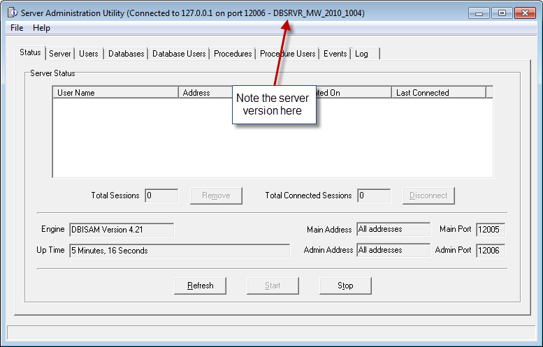 Server Version