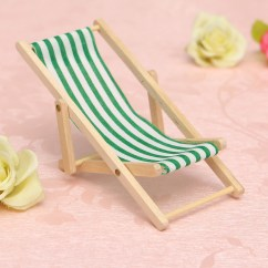 Mini Beach Chair Picture Frames Poker Chairs For Sale New Diy Dolls House 1 12 Miniature Foldable Wooden