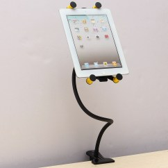 Ipad Stand For Chair Ergonomic Mauritius Universal 360 Gooseneck Bed Table Mount Clip Holder