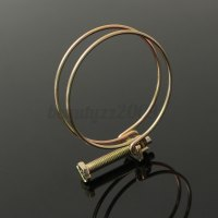 Double Wire Hose Clamp Pipe Clip Screw Bolt Tight Fitting ...