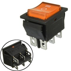 Illuminated Marine Rocker Switches John Deere 4430 Wiring Diagram 6 Pin Mini On Off Switch Dpdt With Led