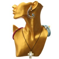 Gold Mannequin Head Bust Stand Choker Necklace Earring ...