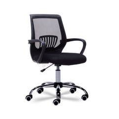 Revolving Chair Wheel Price In Pakistan Black Spandex Covers For Sale Adjustable 5 Castor 360 Degree Rotating Mesh Office