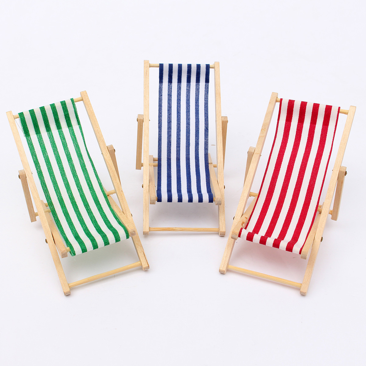 retro living room furniture sets long curtains for new dolls house 1:12 miniature foldable wooden deckchair ...