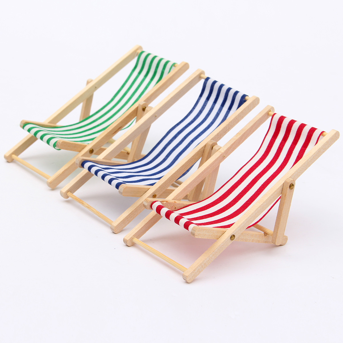 metal lounge chair with wheels folding reviews new dolls house 1:12 miniature foldable wooden deckchair beach toy | ebay