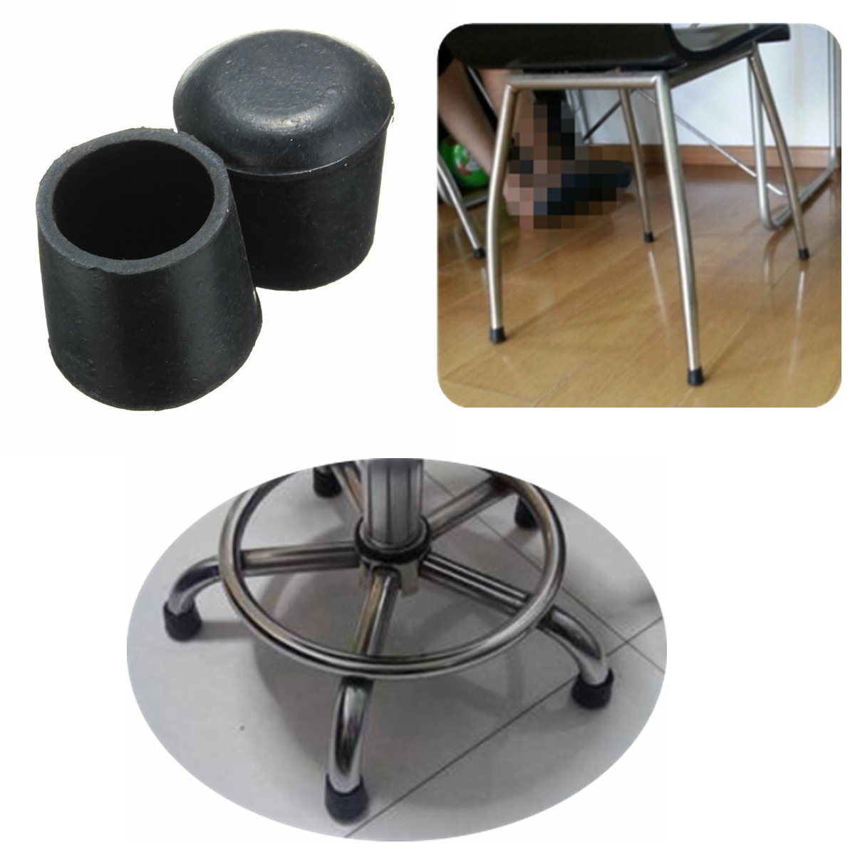 floor chair protectors counter height table and chairs set 20pcs rubber furniture feet leg tip pads