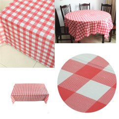 Disposable Plastic Chair Covers For Parties Easy Clean High Australia Red Gingham Check Tablecloth Tablecover