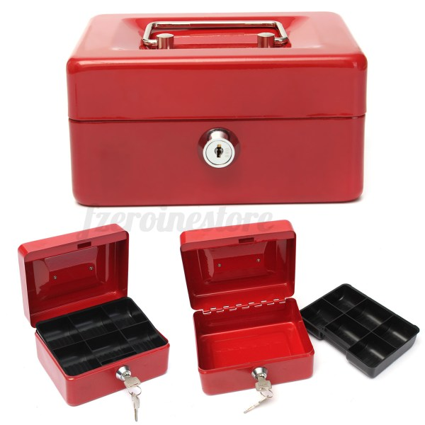 Metal Cash Boxes with Key Lock