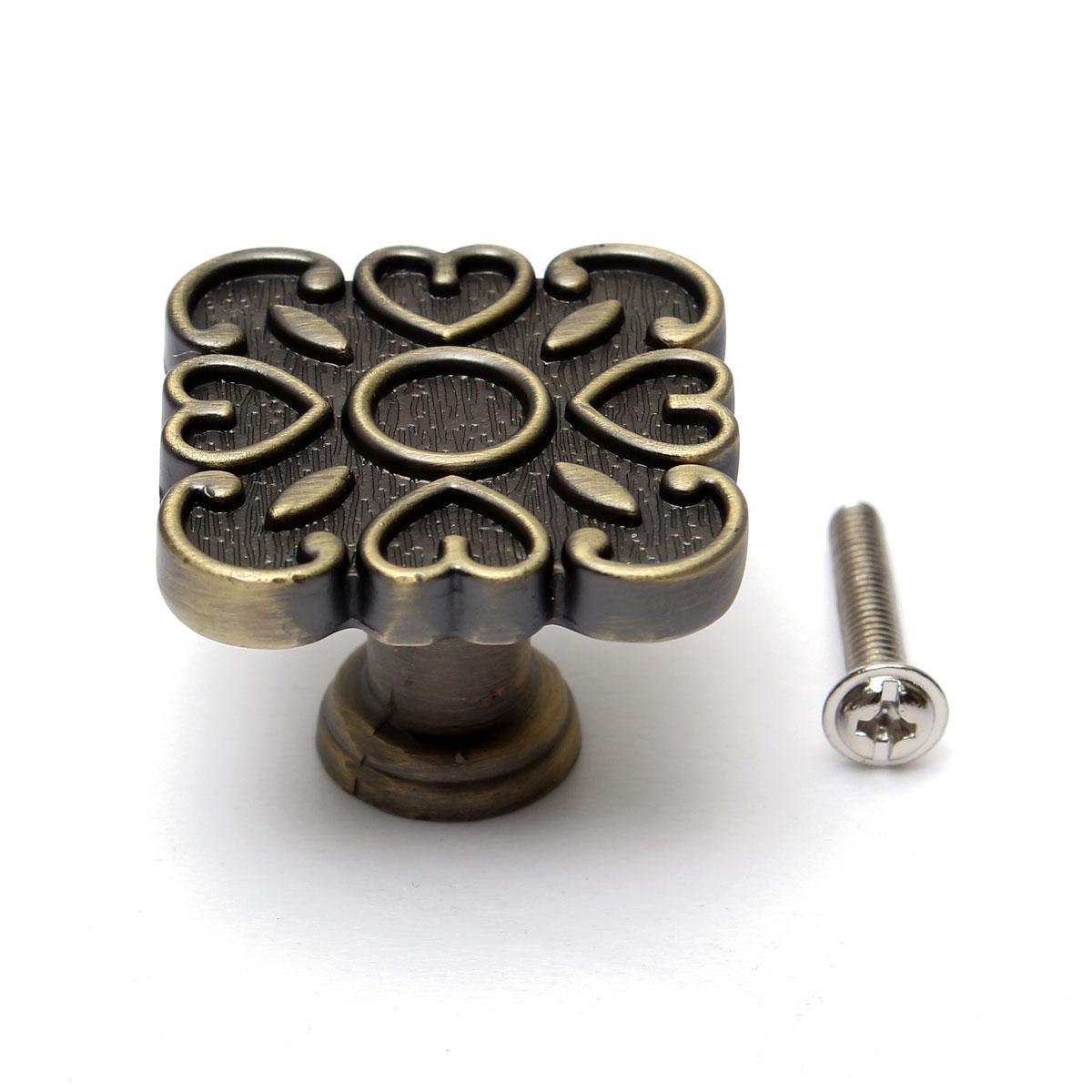 Bronze Cabinet Drawer Door Hardware 6496128mm Handle Pulls RoundSquare Knobs  eBay