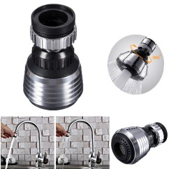 Water Efficient Kitchen Faucet Designs With Island New 360 Swivel Saving Tap Aerator Diffuser