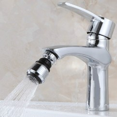 Water Efficient Kitchen Faucet Make Cabinets New 360 Swivel Saving Tap Aerator Diffuser