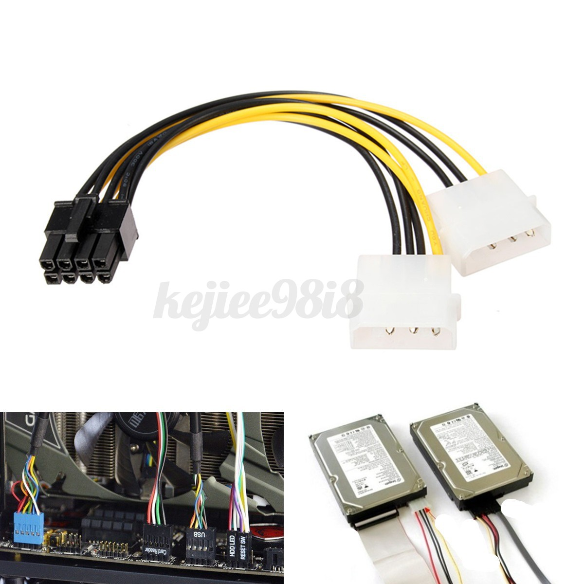 5 pin pci express adapter white rodgers thermostat wiring diagram 1f80 261 dual molex lp4 4 to 8 e converter