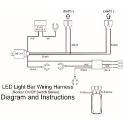 Wiring Diagram For Light Bar Rocker Switch Mazda B2000 Radio 12v 40 Amp Off Road Atv Jeep Led Harness