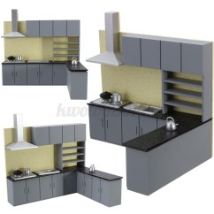 Kitchen Cabinets Ebay Large Round Table Sets Miniature Cabinet Set Model Kit Furniture For Art