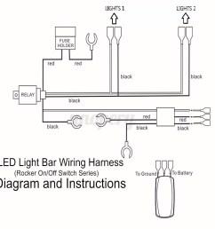 wiring harness cable led light bar laser rocker switch 12v 120v led wiring diagram led 12v [ 1200 x 1200 Pixel ]