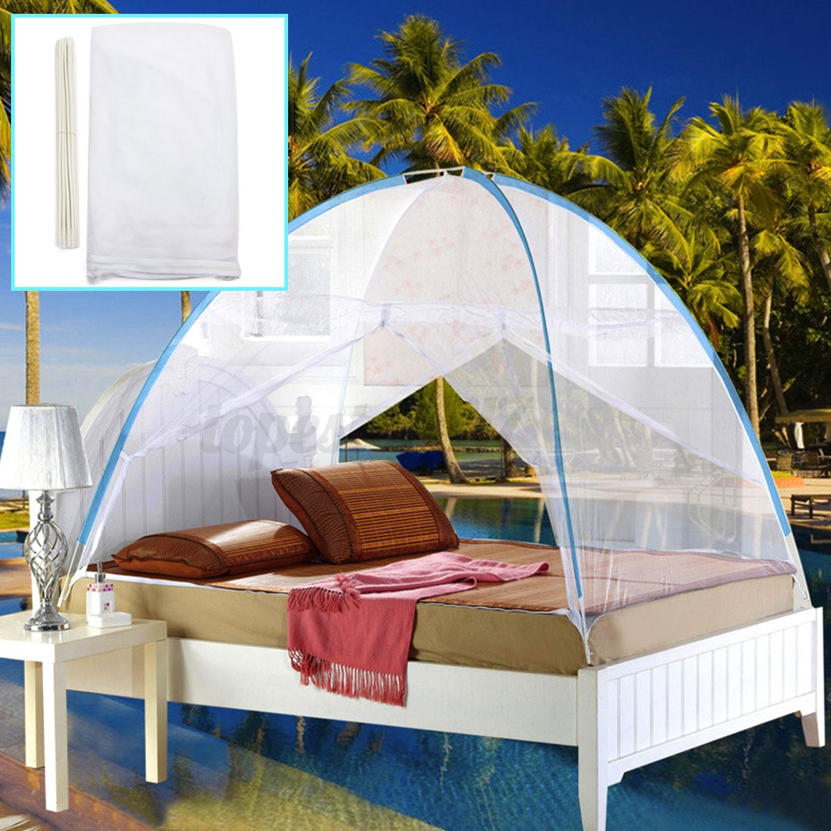 Bedding Canopy Mosquito Net Folding Mesh Tent For Single