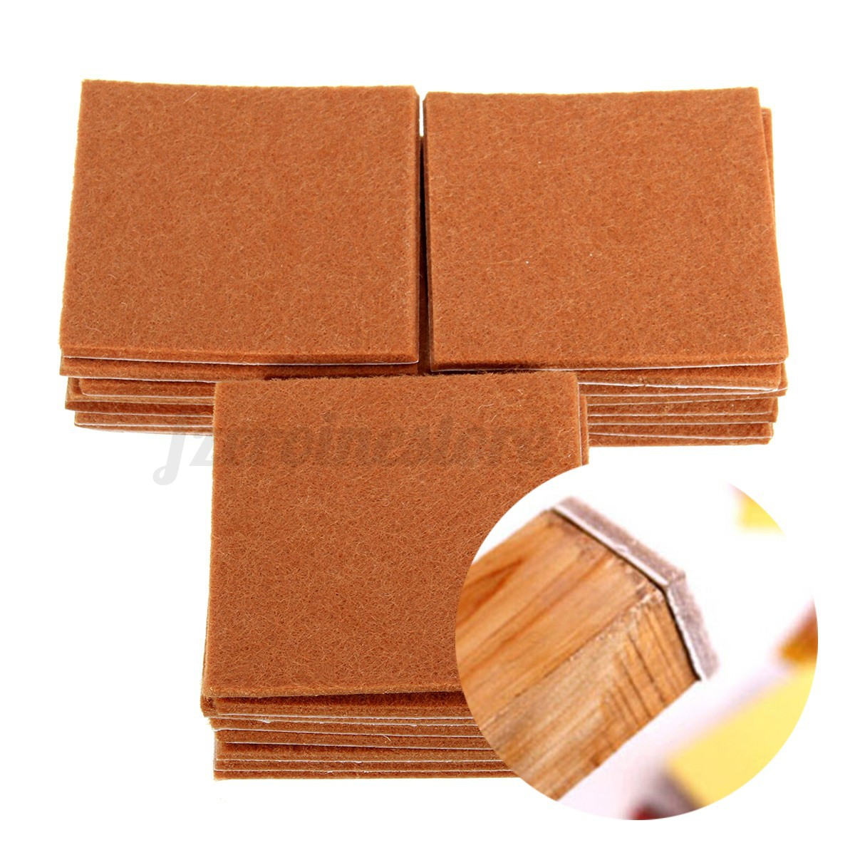 chair felt pads santa rental 24 pcs heavy duty oak wood laminate floor chairs furniture