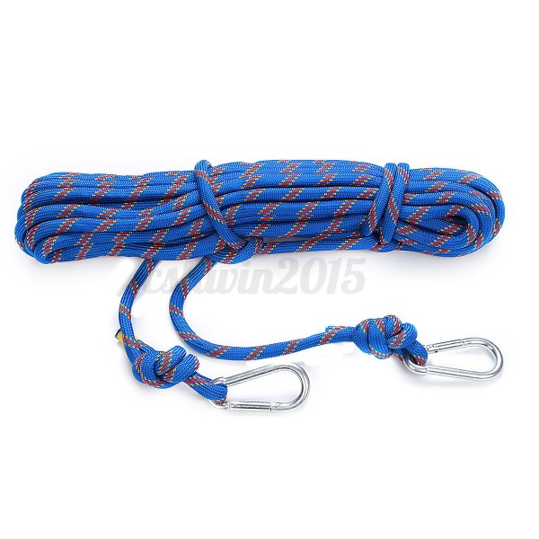 3kn 15m 10mm Diamete Safety Rope Rock Climbing Rappelling Auxiliary Rop