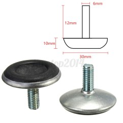 Threaded Chair Glides Gold Glitter Covers 10x 6mm Adjustable Thread Screw Feet Furniture Levelling