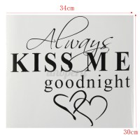 ALWAYS KISS ME GOODNIGHT Quote Vinyl Wall Home Decal Decor ...