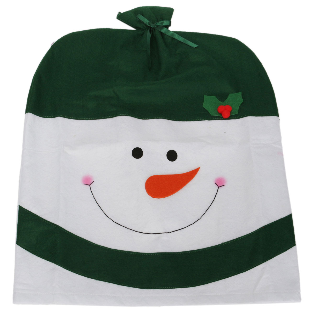 kirklands christmas chair covers for gaming back cover snowman hat xmas decoration