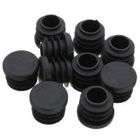 10x Black Plastic Blanking End Caps Cover Insert Plugs ...