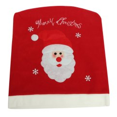 Santa Chair Covers Sets British Colonial And Ottoman Christmas Claus Snowman Reindeer Xmas Cover