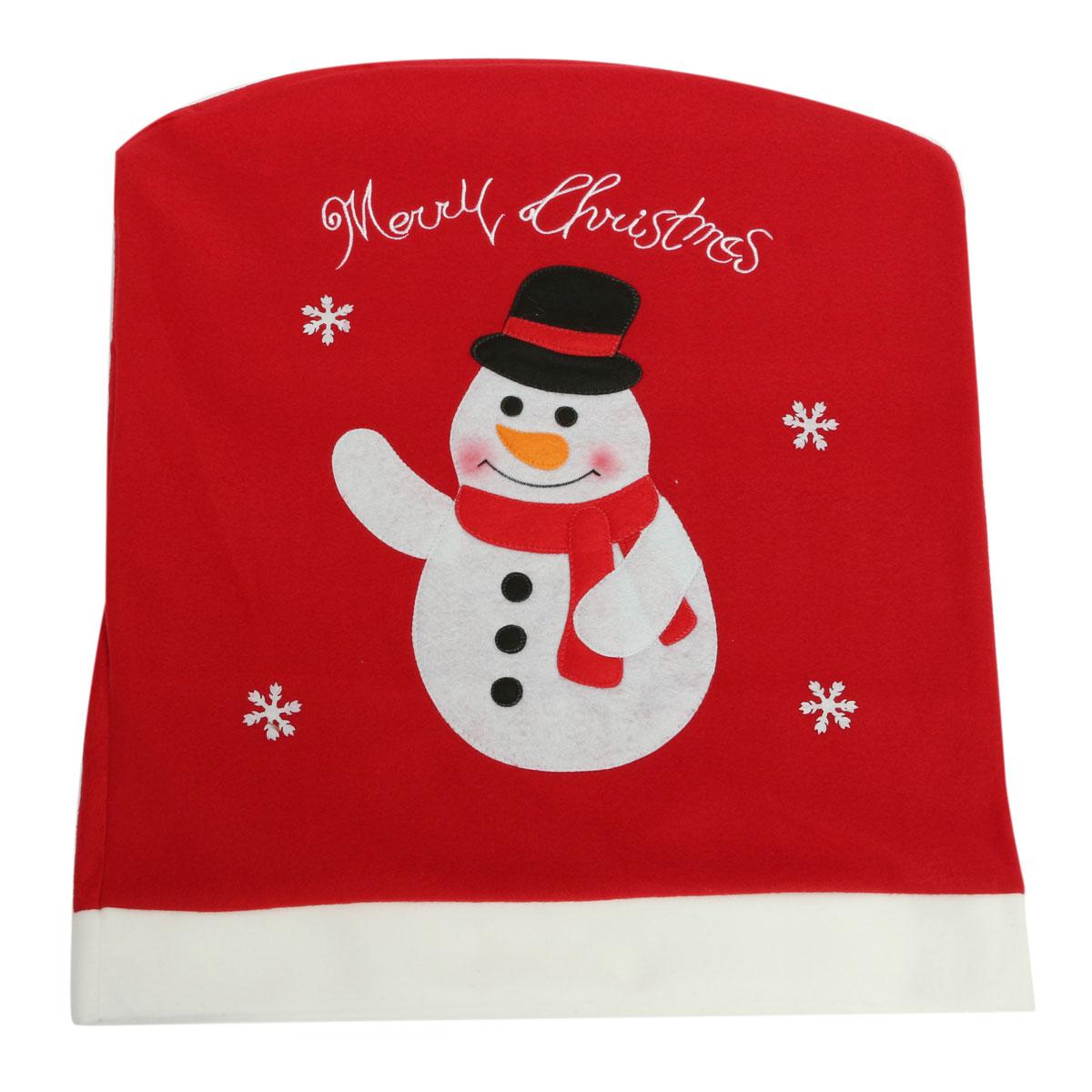 christmas chair covers ebay swing big w santa claus snowman reindeer xmas cover