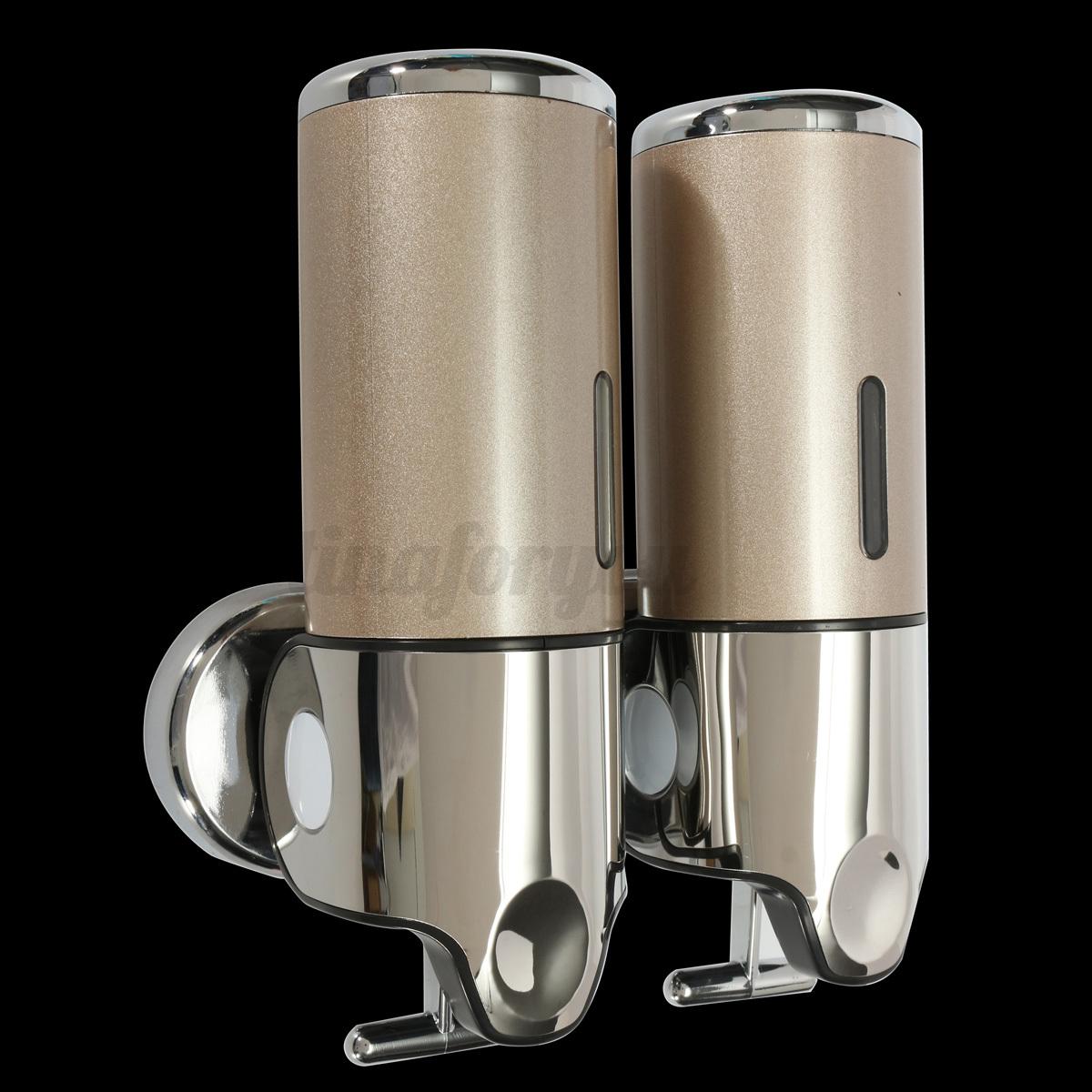 3 Bottles Wall Mounted Hotel Bathroom Soap Dispenser 500ML Liquid Shampoo Shower  eBay