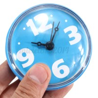 Bathroom Waterproof Clock Wall Bath Shower Watch Mirror