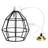 Industrial Vintage Style Metal Cage Wire Frame Ceiling ...