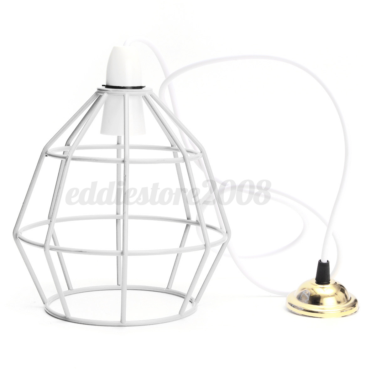 Industrial Vintage Style Metal Cage Wire Frame Ceiling Pendant Light Lamp Shades
