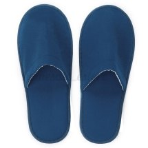 2x White Red Blue Hotel Slippers Spa Guest Disposable